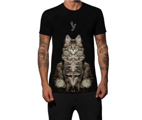 Tshirt gatto uomo grande