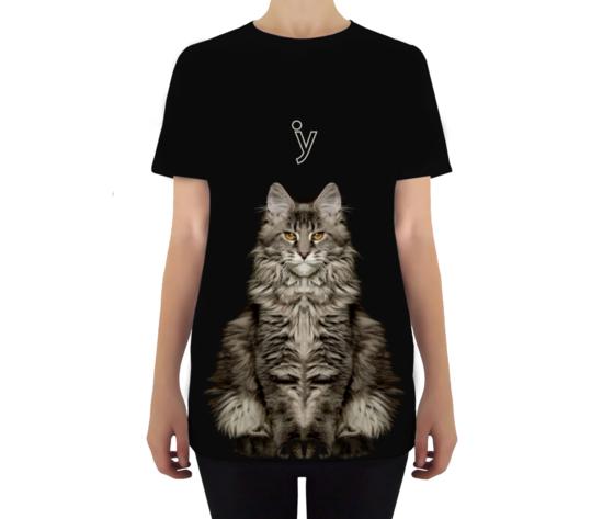 Tshirt gatto donna grande