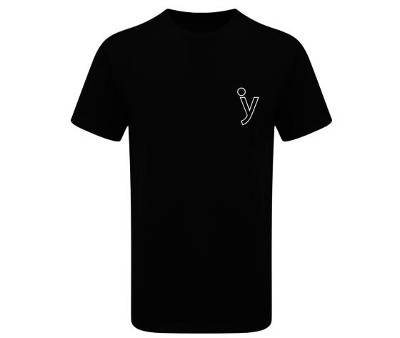Tshirt y piccola classica  nera  tshirt calissica