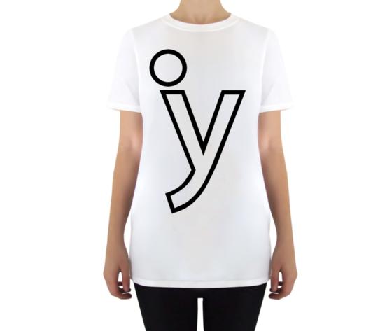 Y classic tshirt bianca donna