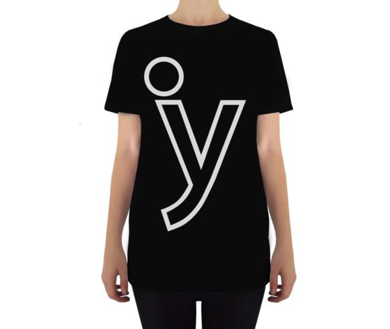 Y classic tshirt nera donna