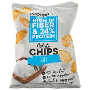 Healthyco Proteinpro Chips 50 Gr – Salt (Confezione da 14  Pezzi)