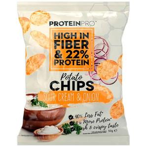Healthyco Proteinpro Chips 50 Gr - Sour Cream E Onion (Confezione da 14  Pezzi)