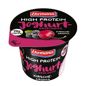 Ehrmann High Protein Joghurt 200 Gr – 4pz Ciliegia&aronia + 4 Pz Mirtillo (Confezione da 8 Pezzi)