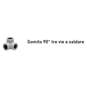 +GF+ GOMITO 90° TRE VIE A SALDARE D.20 AQUASYSTEM PP-R 4021