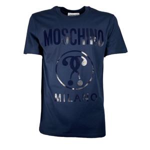Moschino T-shirt Logo Milano Blu