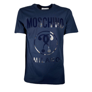Moschino T-shirt Logo Milano Blue