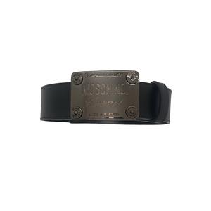 Moschino Cintura in Pelle Con Placca