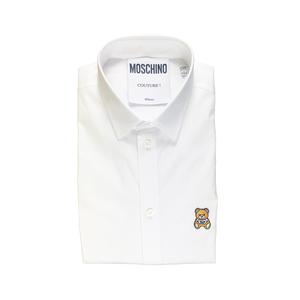 Moschino Camicia Bianca Logo Orso