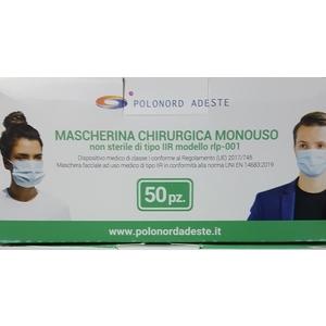 MASCHERINE CHIRURGICHE 50 pz