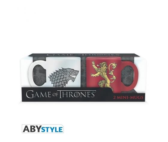Game of thrones 2 espresso mugs stark lannister set