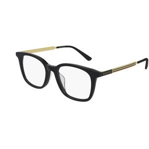 GUCCI 0831OA 001 black e gold occhiali