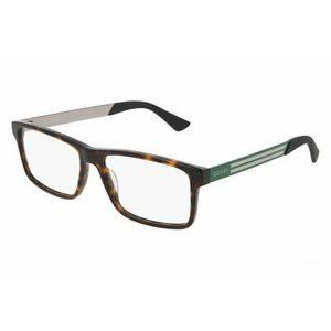 GUCCI 0692O 005 tartarugato, green e silver occhiali