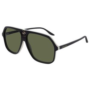 GUCCI 0734S 004 black, white  / green occhiali