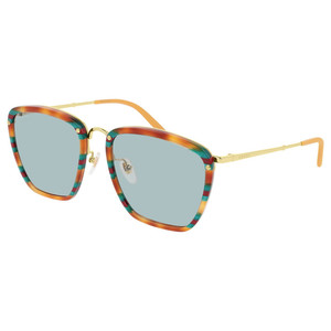 GUCCI 0673S 003 righe multicolor / light green occhiali