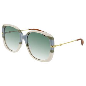 GUCCI 0511S 007 righe multicolor / light green occhiali