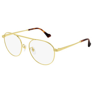 GUCCI 0744O 004 gold occhiali