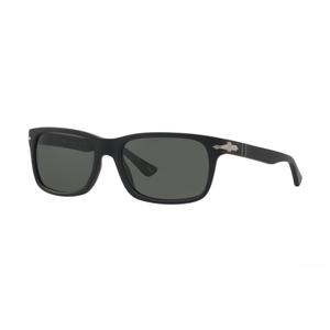 Persol 3048S 900058 matte black / green occhiali