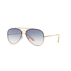 Ray ban 3584N 001/19 gold / light blue occhiali