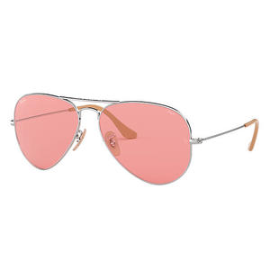 Ray ban 3025 9065V7 AVIATOR LARGE METAL silver / pink occhiali