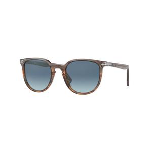 PERSOL 3226S 1137Q8 grey brown striato / light blue occhiali
