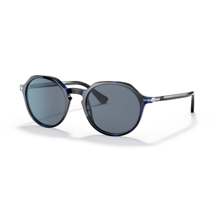 PERSOL 3255S 109956 blue tartarugato / light blue occhiali