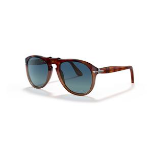 PERSOL 0649 1025S3 brown / light blue polarizzate occhiali