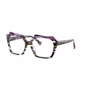 ALAIN MIKLI A03121 002 black, purple e brown striato occhiali