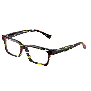ALAIN MIKLI A03120 003 black, yellow, red occhiali