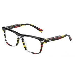 ALAIN MIKLI A03126 005 black, red, yellow striato occhiali