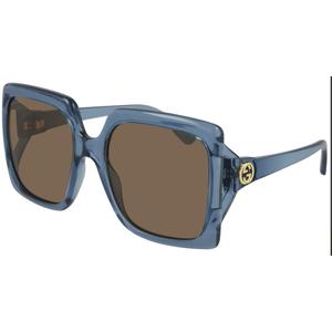 GUCCI GG0876S 004 light blue / brown occhiali