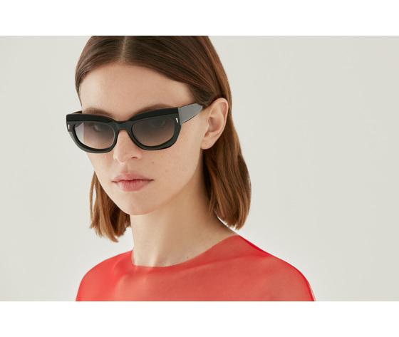 65881 bella cat eye black optical glasses by gigi studios 2