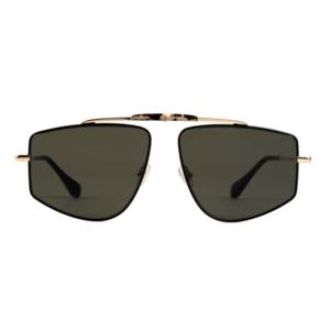 GIGI Studios JAGUAR 6444 05 gold e black / grey green occhiali