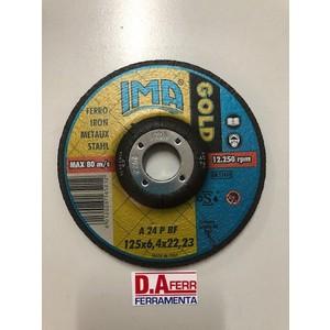 DISCO SBAVO FERRO GOLD MM.125X6,4