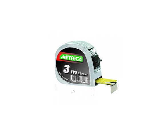 Flessometro metrica metallo mt.3