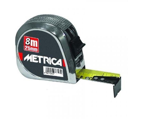 Flessometro mt.8 metrica metallo