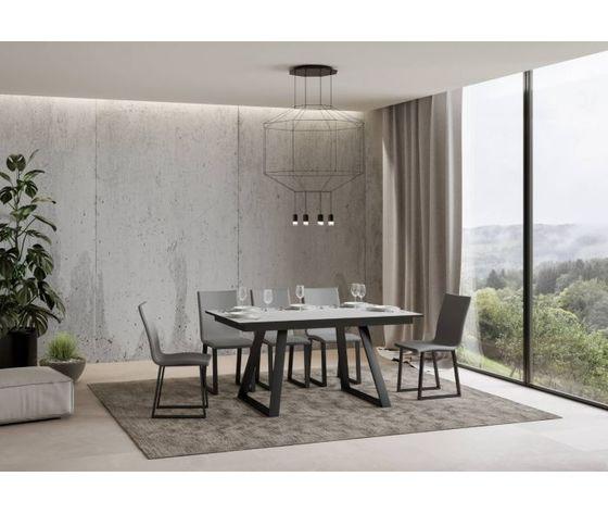 Tavolo allungabile bernadette 160 chiuso bianco frassino