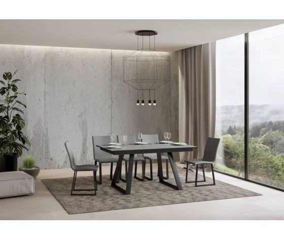 Tavolo allungabile bernadette 160 chiuso cemento