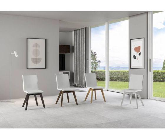 Sedia trudy bianca gambe legno