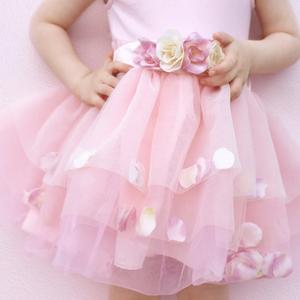 Tutù rosa ballerina con petali