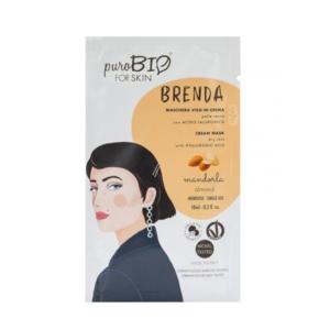 Maschera viso in crema per Pelle Secca con Acido Ialuronico Brenda - PuroBio