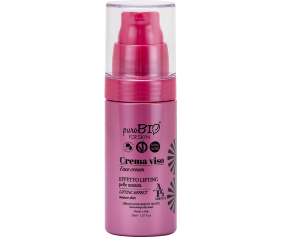 Crema viso effetto lifting pelle matura purobio for skin
