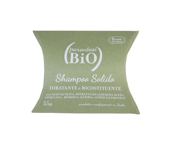 Shampoo solido idratante ricostituente