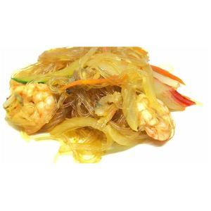 Spaghetti di soia con frutti di mare