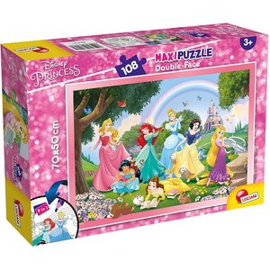 Maxi Puzzle Disney Princess double-face 108 pezzi