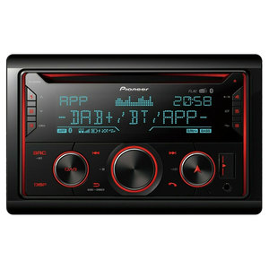 Car stereo DIN doppio Pioneer FH-S820DAB Android Iphone Vivavoce Multicolor