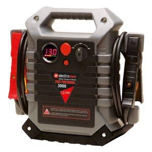Avviatore con batteria piombo electromem start professional 3000 12/24v