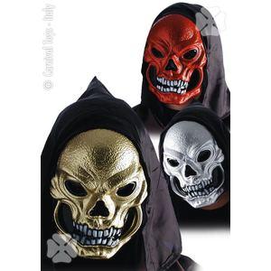 Maschera teschio metallizzato