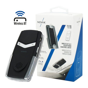 Kit Vivavoce Bluetooth V4.1 Nero Pannello Solare USB Audio Car Auto Stand-By