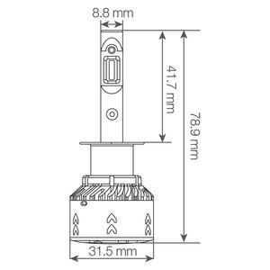 2X Lampadine per Auto  Led Headlight Conversion kit V3 Canbus Integrato Car Professional